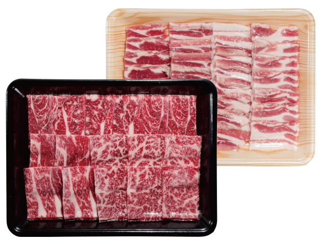 吉清 アルプス牛&オレイン豚焼肉セット
