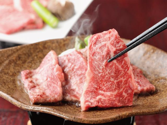 信州アルプス牛肩ロース厚切り焼肉用イメージ